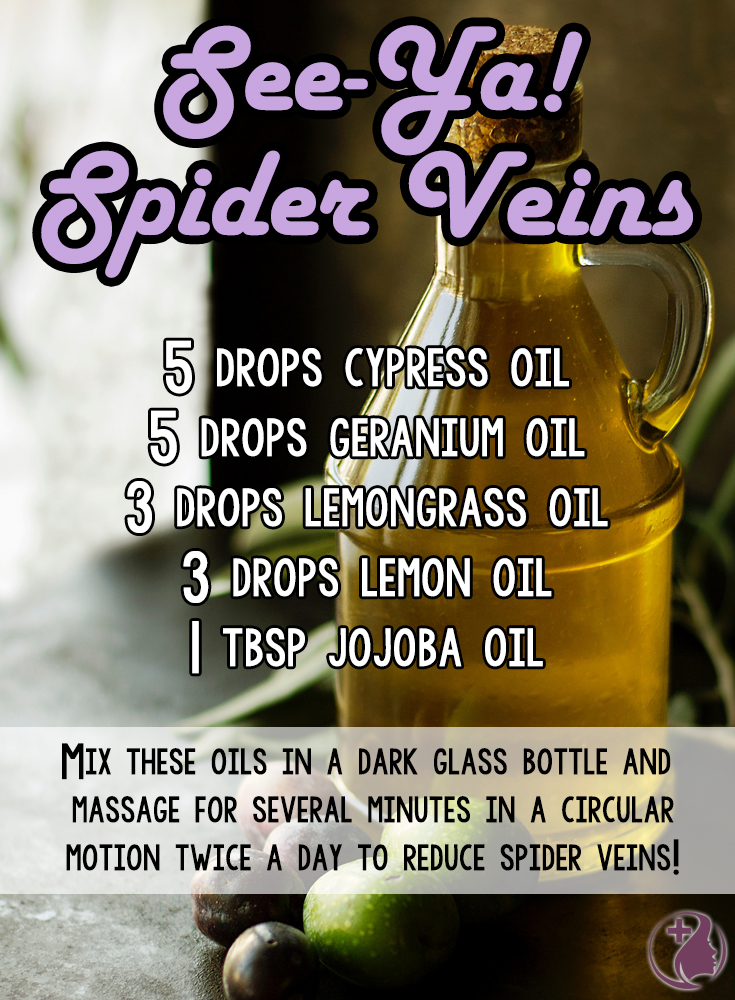 Discover dermatologist tips to get rid of spider veins naturally, including an essential oil blend proven to work fast!