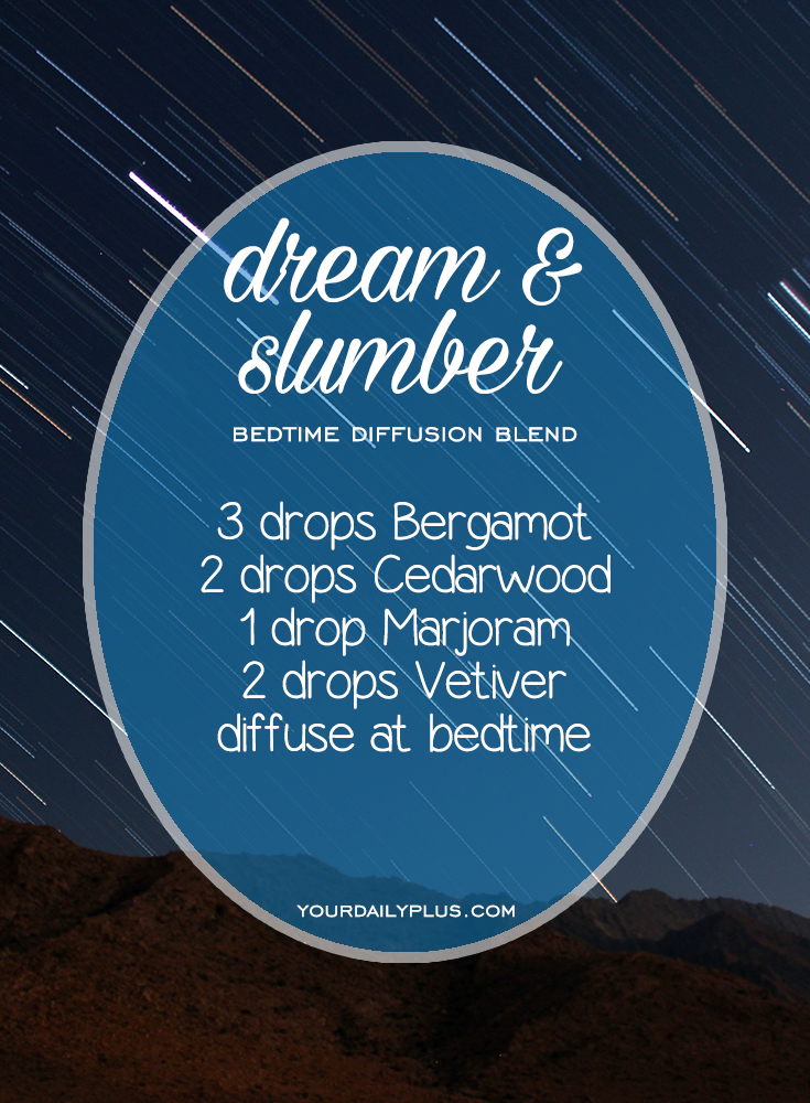 Having trouble sleeping? Try these essential oils for deep sleep that promote relaxation and a restful sleeping environment. Dream and Slumber diffusion blend with Bergamot, Cedarwood, Marjoram and Vetiver.